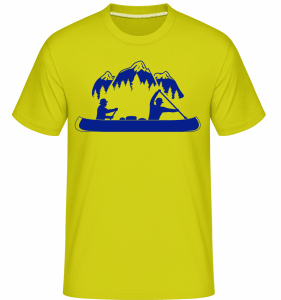 Canoe Tours Mountains -  Shirtinator Men's T-Shirt - Apple green - Vorn