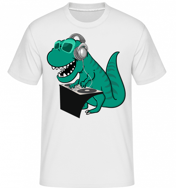 T-Rex DJ -  Shirtinator Men's T-Shirt - White - Vorn
