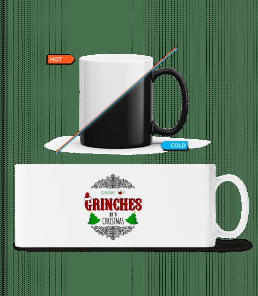 Drink up Grinches - Magic Mug - White - Vorn