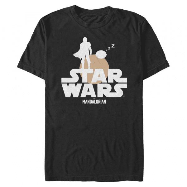 Sunset Duo The Child - Star Wars Mandalorian - Men's T-Shirt - Black - Front