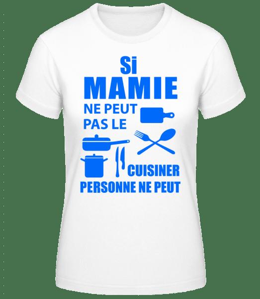 Mamie Sais Tout Cuisiner - T-shirt standard Femme - Blanc - Vorn