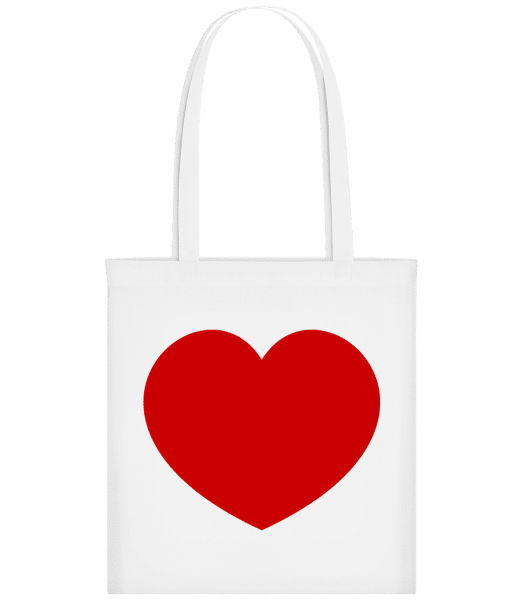 Heart - Carrier Bag - White - Vorn