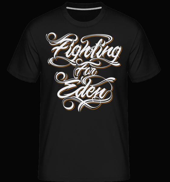 Fighting For Eden -  Shirtinator tričko pro pány - Černá - Napřed