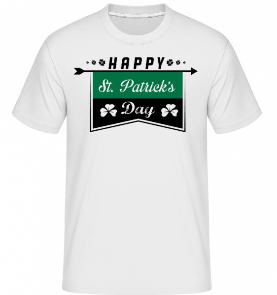 Happy St. Patrick's Logo -  Shirtinator Men's T-Shirt - White - Vorn