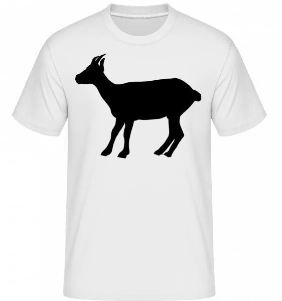 Silhouette Goat -  Shirtinator Men's T-Shirt - White - Vorn