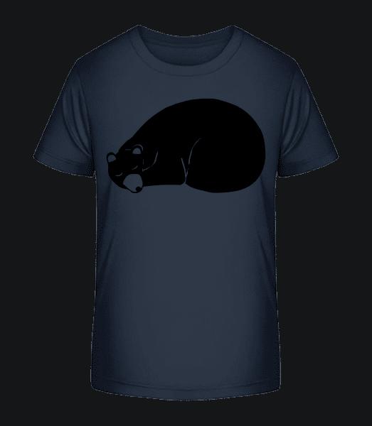Schlafender Bär - Kinder Premium Bio T-Shirt - Marine - Vorn