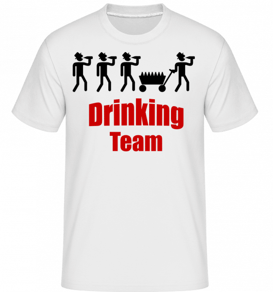 Drinking Team -  Shirtinator Men's T-Shirt - White - Vorn