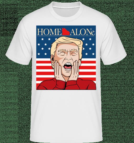 Home Alone Trump -  Shirtinator Men's T-Shirt - White - Vorn