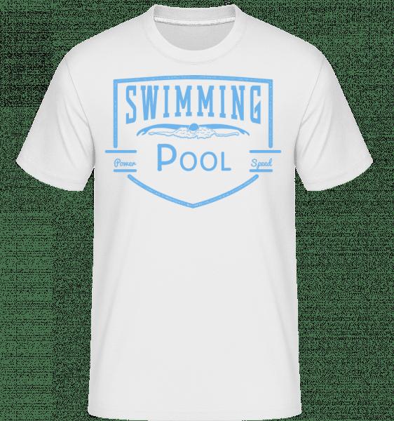 Swimming Pool Sign - Shirtinator Männer T-Shirt - Weiß - Vorn