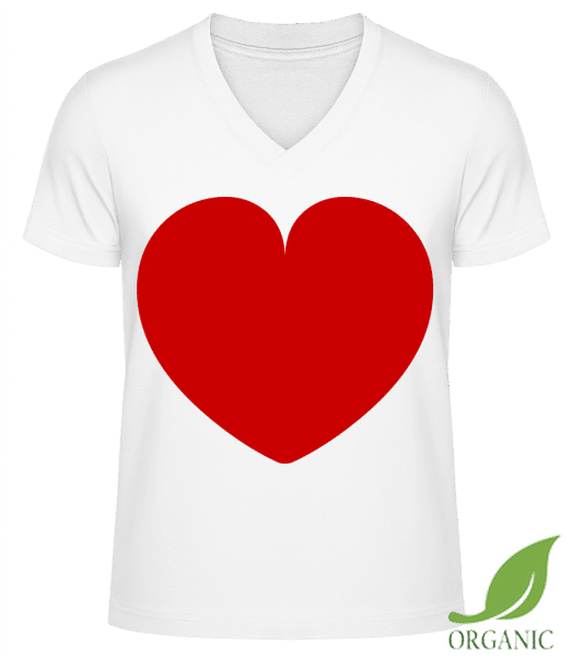 Love Heart - T-shirt bio col en V James - Blanc - Devant