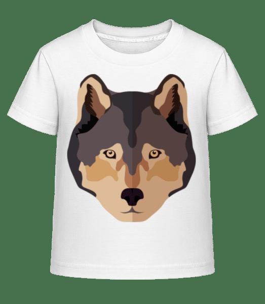 Wolf Comic Shadow - Kid's Shirtinator T-Shirt - White - Vorn