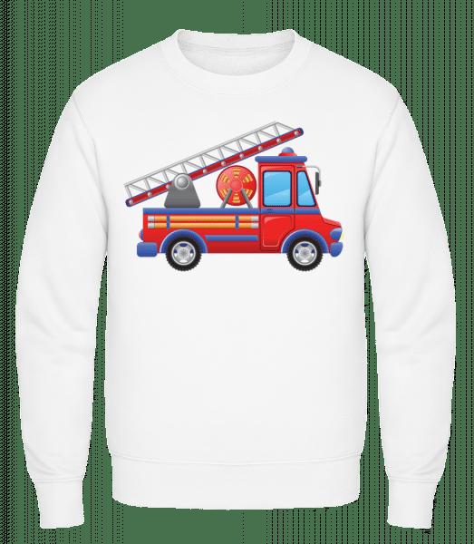 Fire Truck Kids - Classic Set-In Sweatshirt - White - Vorn