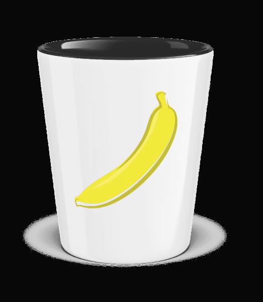 Banane - Schnapsglas zweifarbig - Weiß - Vorn