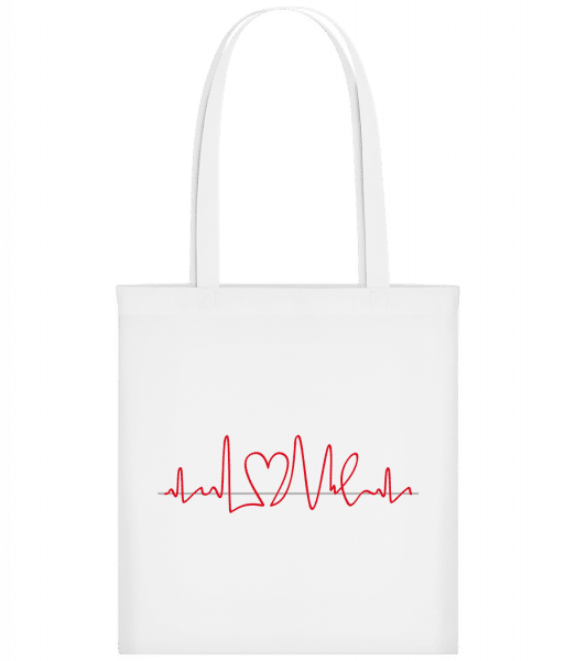 Heart Frequency - Carrier Bag - White - Vorn