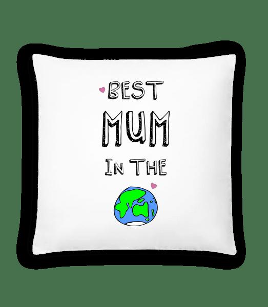 Worlds Best Mum - Kissen - Weiß - Vorn