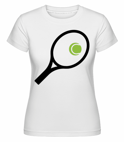 Tennis Ball And Racket -  Shirtinator Women's T-Shirt - White - Front