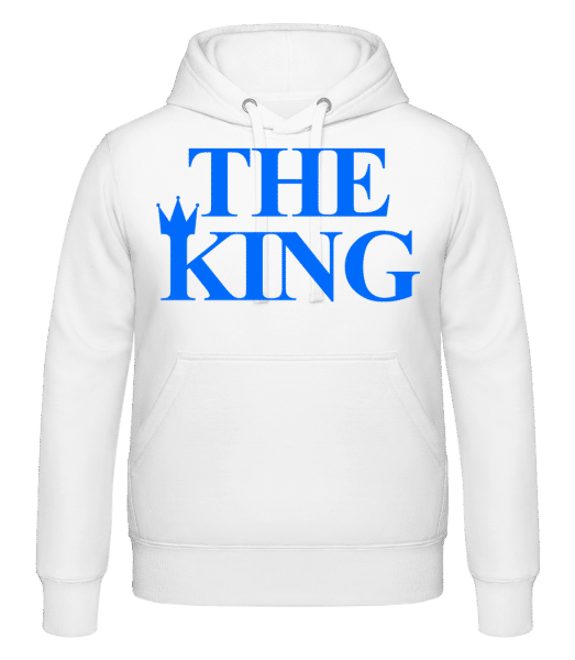 The King Blue - Hoodie - White - Vorn