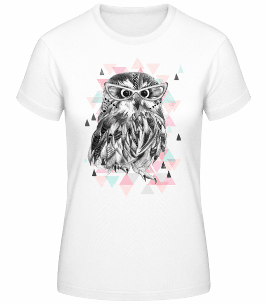 Hipster Owl - Women's Basic T-Shirt - White - Vorn