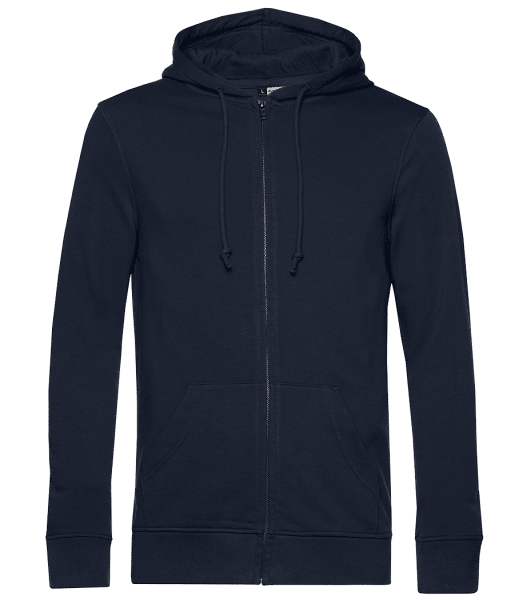 Unisex Organic Premium Sweatjacket - Navy - Front