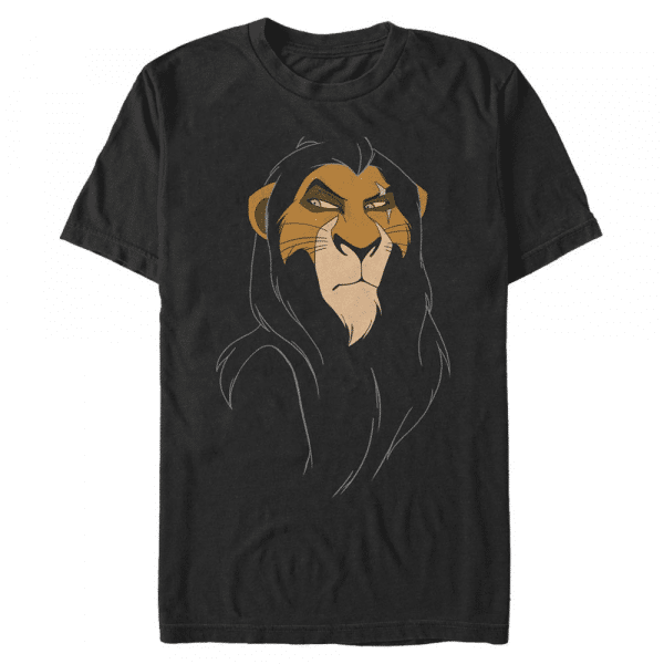 Big Face Scar - Disney The Lion King - Men's T-Shirt - Black - Front