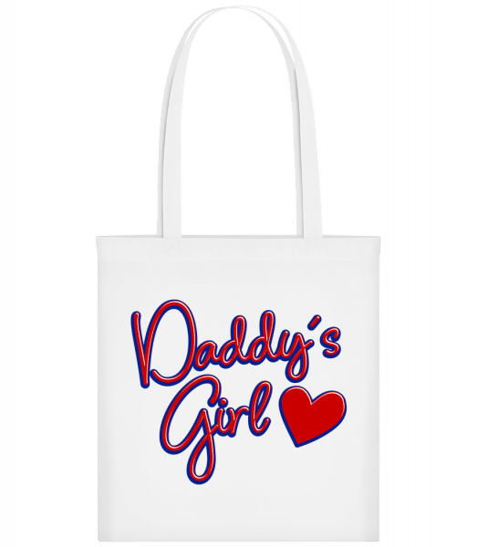 Daddy's Girl - Carrier Bag - White - Vorn