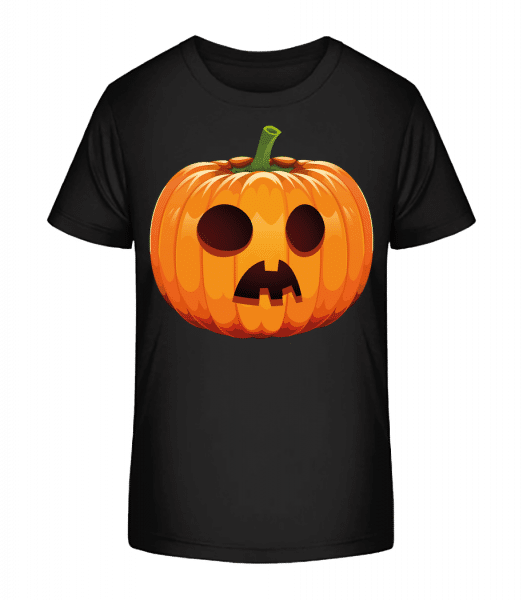 Astonished Pumpkin - Kid's Premium Bio T-Shirt - Black - Front