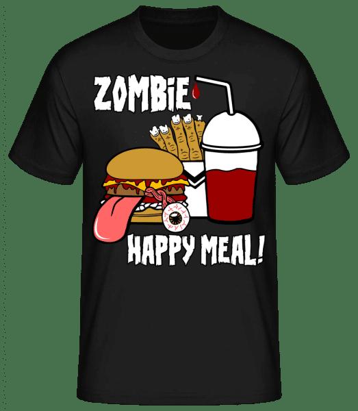Zombie Happy Meal - Männer Basic T-Shirt - Schwarz - Vorn