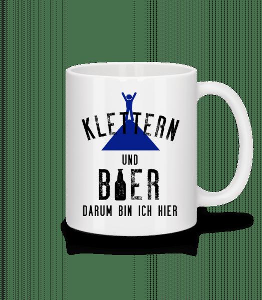 Klettern Und Bier - Tasse - Weiß - Vorn