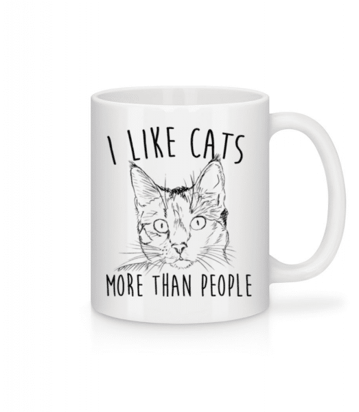 I Like Cats More Than People - Mug - White - Front