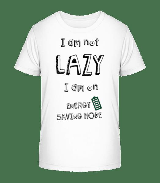 I Am Not Lazy - Kid's Premium Bio T-Shirt - White - Vorn