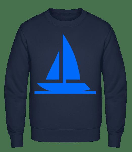 Sailboat - Classic Set-In Sweatshirt - Navy - Vorn