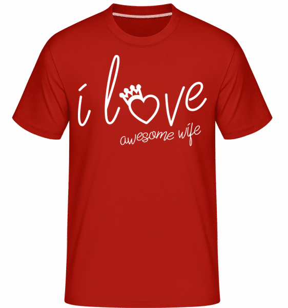 I Love Awesome Wife 1 -  Shirtinator Men's T-Shirt - Red - Front