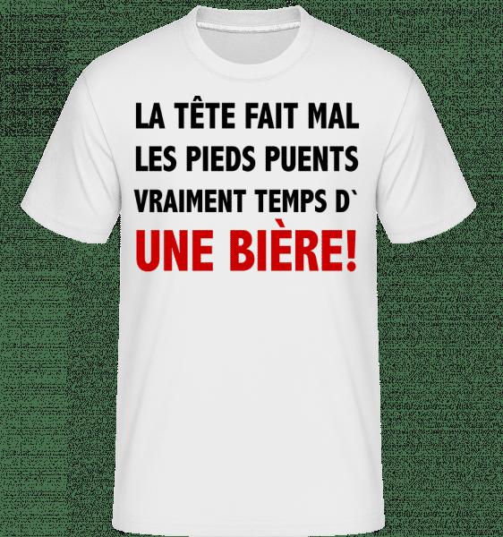 Temps D' Une Bière -  T-Shirt Shirtinator homme - Blanc - Vorn