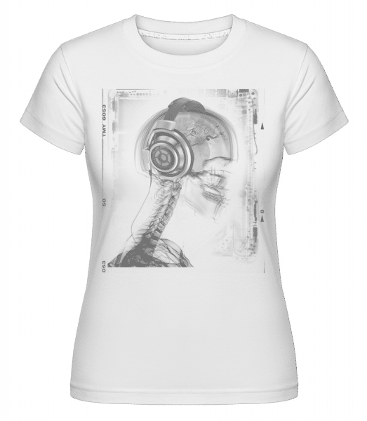 Skeleton Music -  Shirtinator Women's T-Shirt - White - Vorn