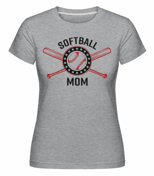 Softball Mom -  Shirtinator Women's T-Shirt - Heather grey - Vorn