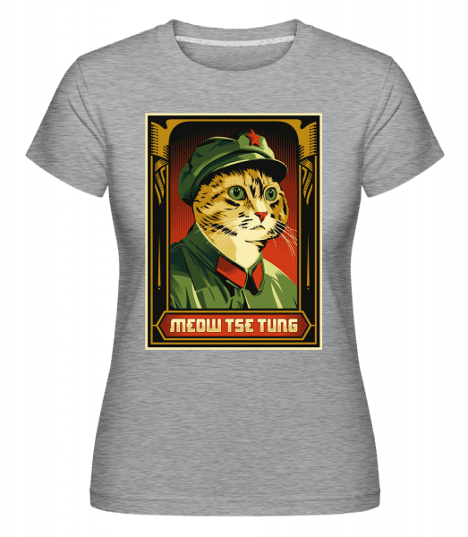 Meow Tse Tung -  Shirtinator Women's T-Shirt - Heather grey - Vorn