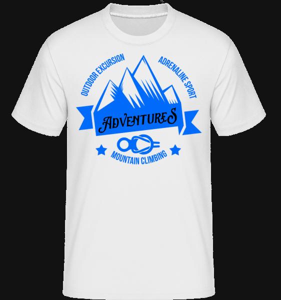 Climbing Adventures -  Shirtinator Men's T-Shirt - White - Vorn