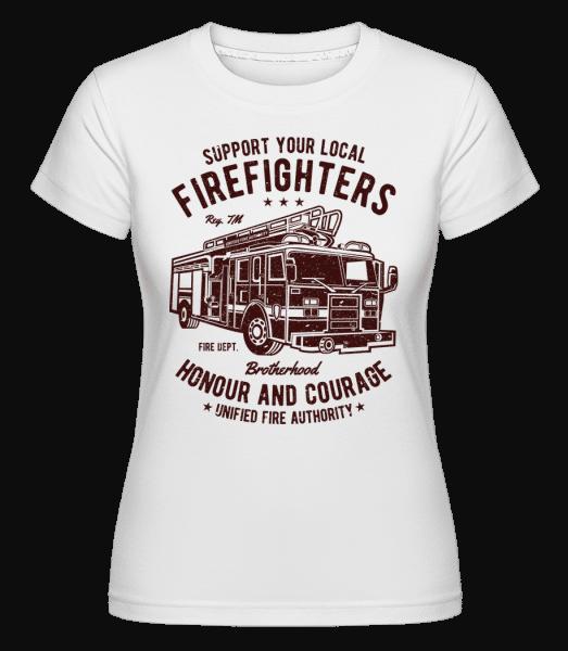 Fire Fighters Truck -  Shirtinator Women's T-Shirt - White - Vorn