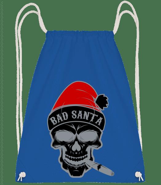 Bad Santa Skull - Turnbeutel - Royalblau - Vorn