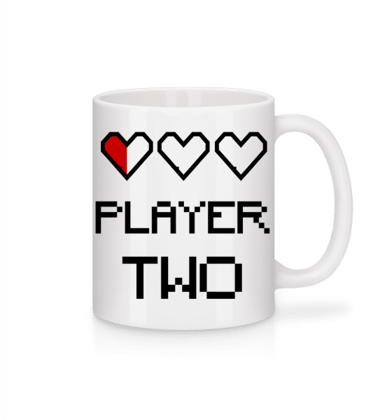Player Two - Mug - White - Vorn
