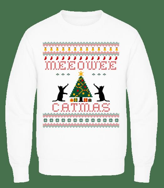 MEEOWEE Catmas - Men's Sweatshirt AWDis - White - Vorn