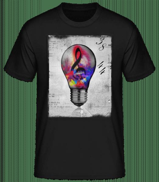 Ampoule Coloré - Basic T-Shirt - Schwarz - Vorn