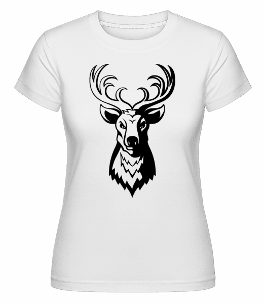 Deer -  Shirtinator Women's T-Shirt - White - Vorn