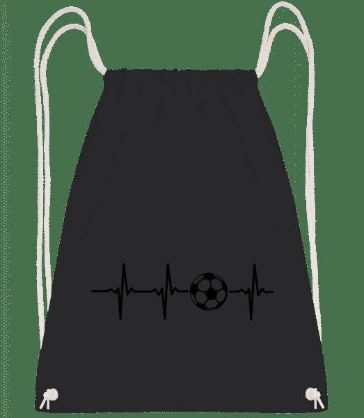 Heart Rate Football - Turnbeutel - Schwarz - Vorn