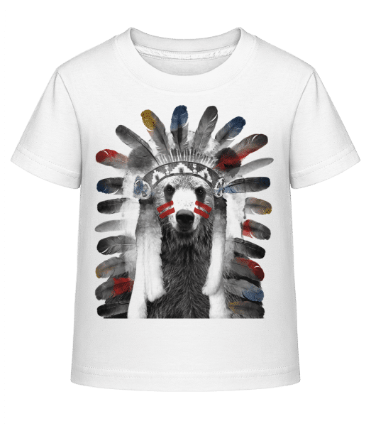 Indianer Bär - Kinder Shirtinator T-Shirt - Weiß - Vorn
