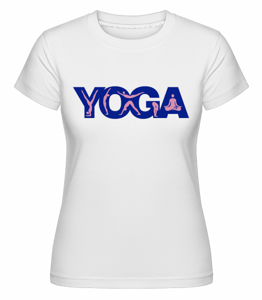 Yoga Sign Blue -  Shirtinator Women's T-Shirt - White - Vorn