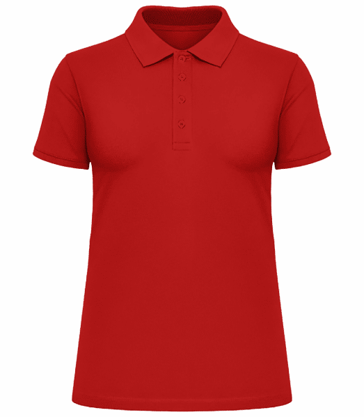 Women's Heavy Piqué Polo Shirt - Red - Vorn