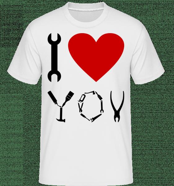 I Love DIY -  Shirtinator Men's T-Shirt - White - Vorn
