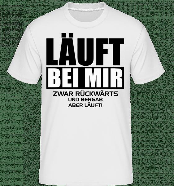 Läuft Bei Mir Rückwärts - Shirtinator Männer T-Shirt - Weiß - Vorn