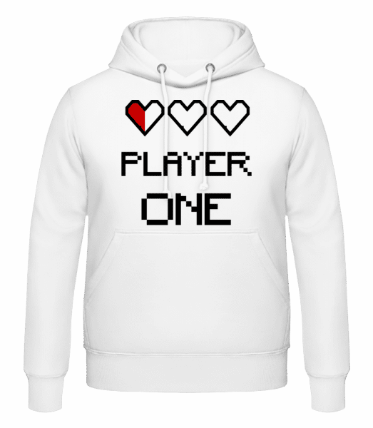 Player One - Men's Hoodie - White - Vorn
